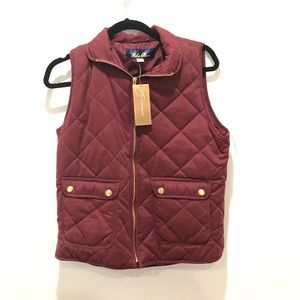 Francesca's red quilted puffer vest